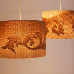 Flute pendant lamp (large) by Giles Miller