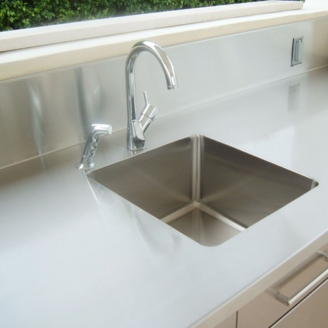 Stainless Steel Countertops & Backsplashes by Lasertron DIRECT LLC