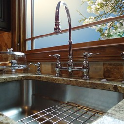 Designer Bridge Faucet by Franke Kitchen Systems Luxury Products Group