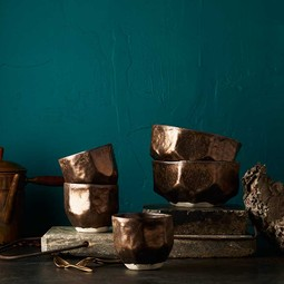 Bronze Battuto Cups & Bowls by dbO Home