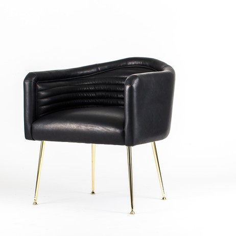 The Channel tufted Chair by Westin Mitchell