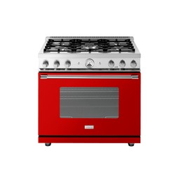 "36"" LA CUCINA Range in Red, HIGH GLOSS Finish by Superiore"