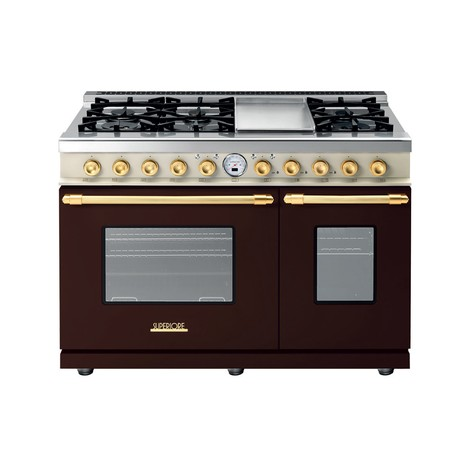 "48"" DECO Range in Matte Brown, Dual Color with Gold Trim by Superiore"
