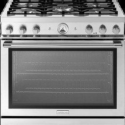 "36"" LA CUCINA Range in Stainless Steel, PANORAMA Window by Superiore"
