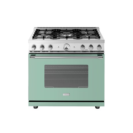 "36"" LA CUCINA Range in Sage, VELVET Finish by Superiore"