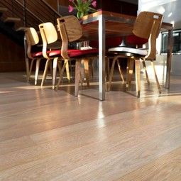 Select grade White Oak Wide Plank Flooring by Hull Forest Products