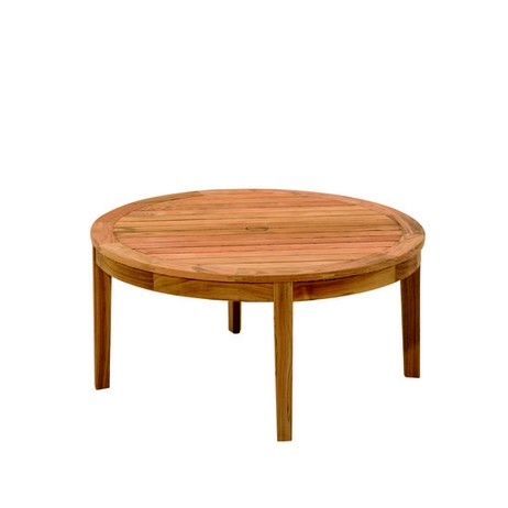 SMALL ROUND CONVERSATION TABLE - 10 by Gloster Furniture