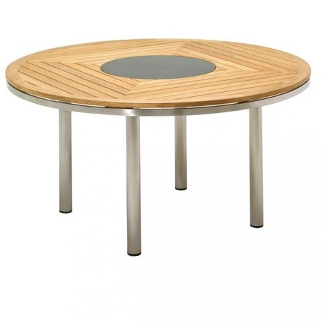 KORE 149CM ROUND TABLE - TEAK TOP   by Gloster Furniture