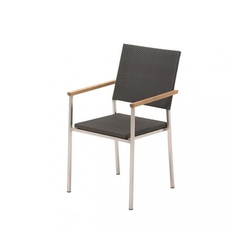 GENEVA STACKING CHAIR WITH ARMS   by Gloster Furniture