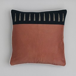 arrows embroidered pillow by Maresca Textiles