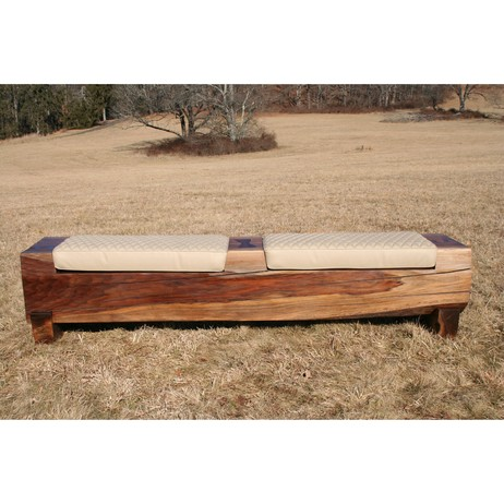 SAMUEL BENCH WITH CUSHIONS by PENDLETON DESIGNS LLC
