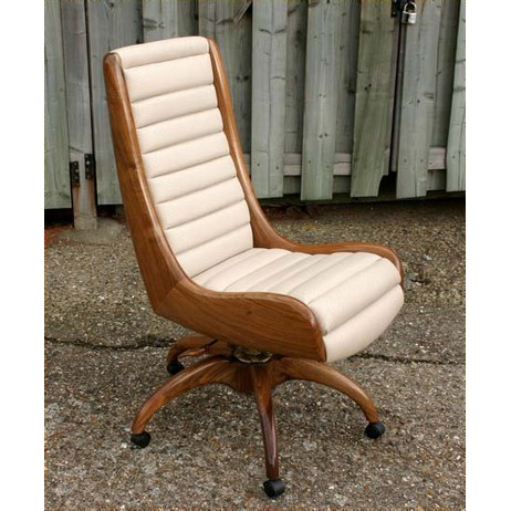 Vintage racing car inspired chair by Reed and Rackstraw
