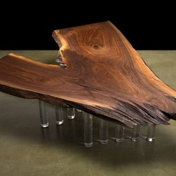 BLACK WALNUT SLAB TABLE  by DESIGNLUSH