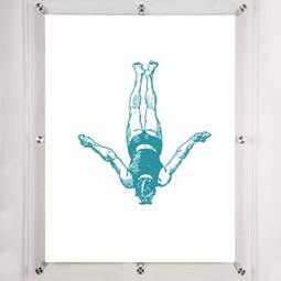 Diver 1- Wall art  by Mitchell Black