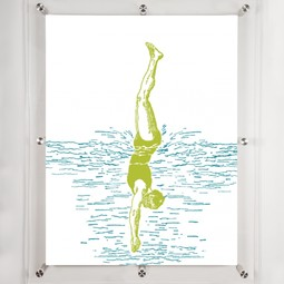 Diver 4 wall Art  by Mitchell Black