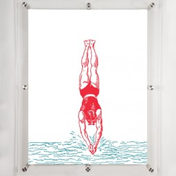 Diver 3- Wall art  by Mitchell Black