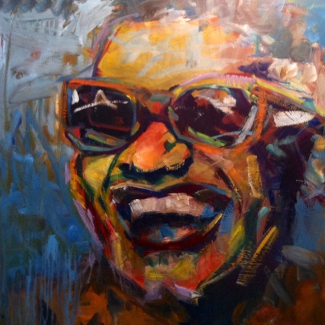 """Ray Charles 8"" by mark carson english"