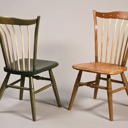 """Steam, Bent, and Windsor"" Chair by William Robbins Furniture Maker"