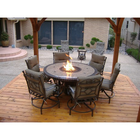 60 Traditional Fire Table by Sundance Southwest