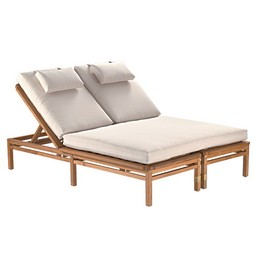 Paradiso Double Chaise by GIATI DESIGNS, INC.