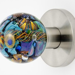 Art Glass Doorknob by Out of the Blue Design Studio