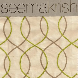 Malabar Hill-Parrot Green & Pathar by Seema Krish Design