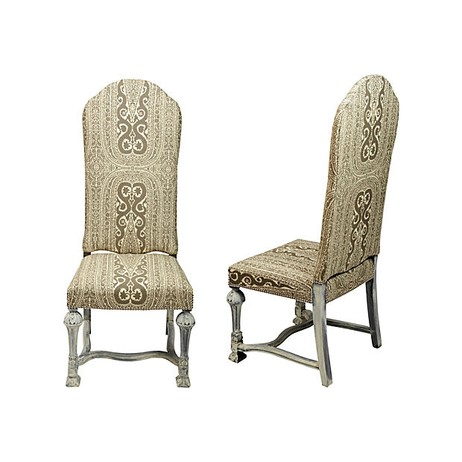 English Parsons Side Chairs, Pair by Tiger Lily's
