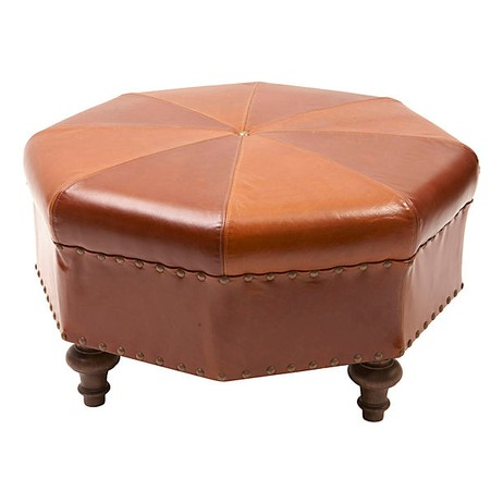 Octagon Ottoman by Tiger Lily's
