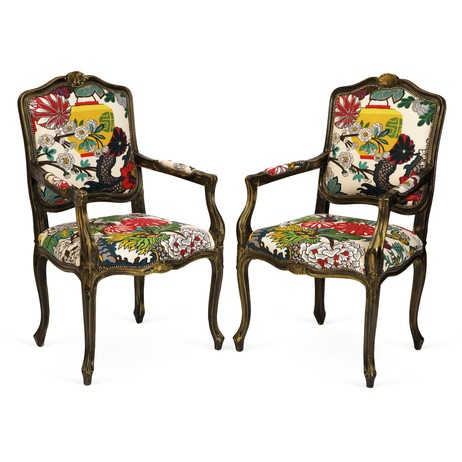 Chaing Mai Dragon Chairs, Pair by Tiger Lily's