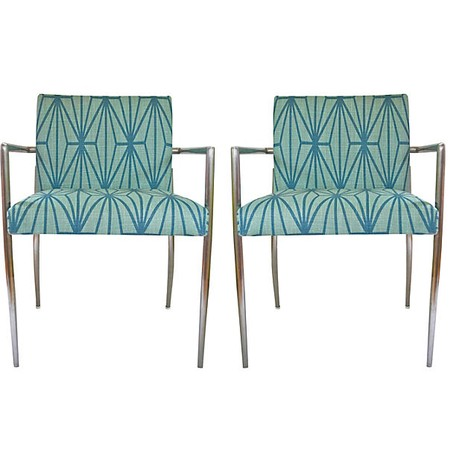 Chairs w/ Kelly Wearstler Fabric by Tiger Lily's