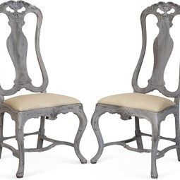 Cabin Weave Wood Frame Chairs, Pair by Tiger Lily's
