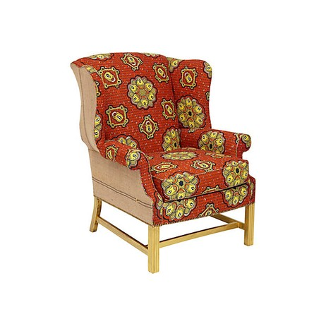 Batik Wingback Chair by Tiger Lily's