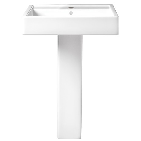 "Seagram 24"" Pedestal Bathroom Sink - Single Faucet Hole by DXV"