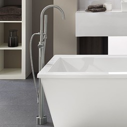 Contemporary Floor Mount Bathtub Faucet by DXV