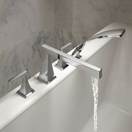 Keefe Deck Mount Bathtub Faucet with Hand Shower by DXV