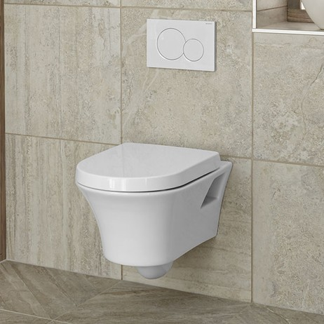 Seagram Wall-Hung Dual Flush Toilet by DXV