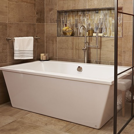 Seagram Freestanding Soaking Tub with Deck by DXV