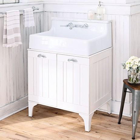 Oak Hill White Bathroom Sink with Vanity by DXV