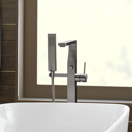 Square Floor Mount Bathtub Faucet by DXV