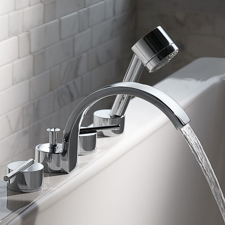 Rem Deck Mount Bathtub Faucet with Hand Shower by DXV