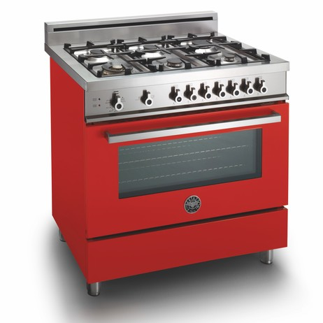 Professional Series Gas Range in Red by BERTAZZONI