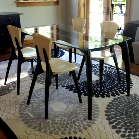 Glasstop Lily table by Brian Boggs Chairmakers