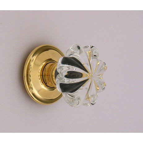 Merlin Glass clear daisy knobs by Merlin Glass