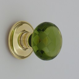 Merlin Glass peridot chequerboard by Merlin Glass