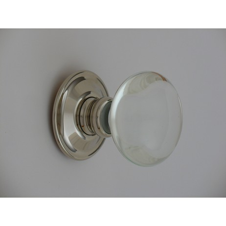 Merlin Glass Clear Smooth Door Knob by Merlin Glass