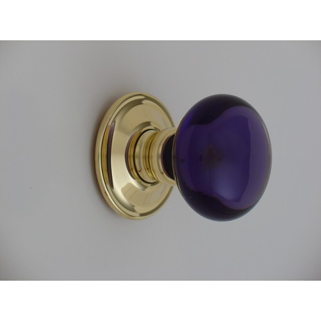 Merlin Glass amethyst smooth knobs by Merlin Glass