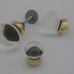Merlin Glass clear knobs by Merlin Glass