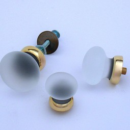 Merlin Glass frosted clear knobs by Merlin Glass