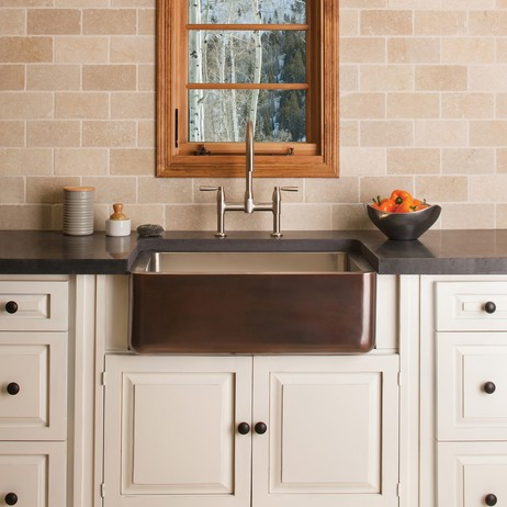Copper Farmhouse Sink by Stone Forest