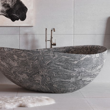 Papillon Tub Cumulo Granite by Stone Forest